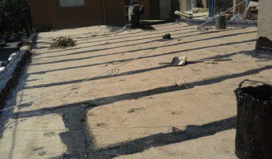 اجرای قیرگونی سرویس بهداشتی ، پشت بام ، استخر